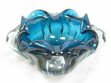 Well shaped Murano glass bowl ashtray Aschen Schale max. 20,5 cm 1600 Gramm