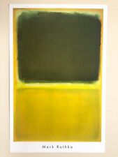 "MARK ROTHKO ABSTRACT LITHOGRAPH PRINT POSTER "" UNTITLED GREEN & YELLOW "" 1951"