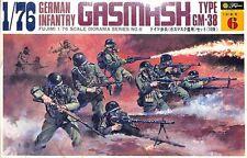 Fujimi 1:76 German Infantry Gasmask Type GM-38 Plastic Figure Kit #D6