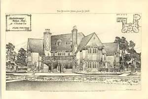 1908 Hedgebrooms Welwyn Hertfordshire Built For Cvo Behr