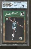 2016-17 Jaylen Brown Donruss #153 Gem Mint 10 RC Rookie Boston Celtics