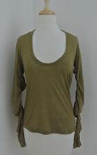 ETOILE ISABEL MARANT scoop neck lightweight wool knit top sz L Olive green NWOT