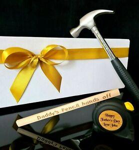 Personalised Hammer DIY Set Gift for Dad Grandad Daddy Father Men Graduation