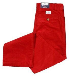 Vineyard Vines Boys Calypso Red Corduroy Solid Breaker Pants