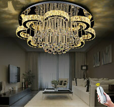 Flower living room lamp Remote Dimmable LED crystal ceiling bedroom light deco