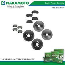 Nakamoto Brake Rotor & Ceramic Pad Front & Rear Kit for Toyota Highlander Lexus