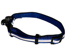 Breakaway Adjustable High Vis Reflective Safety Cat Collar With Bell Blue