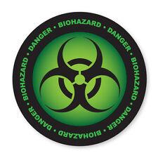 2 x DANGER- BIOHAZARD SYMBOL, TOXIC, GREEN COOL car, van decal sticker