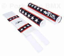 FLITE old school BMX bicycle padset foam racing pads BLUE RED WHITE STARS & BARS