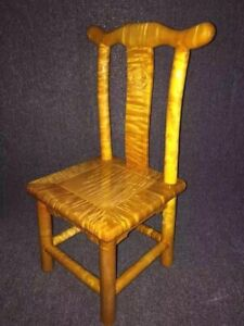 Silkwood Gold Thread Nan Solid Wood Child Official Hat Chair Square Stool #1170