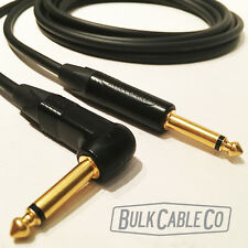 6' MOGAMI 2524 GUITAR CABLE - NEUTRIK NP2X-B STRAIGHT / NP2RX-B RIGHT ANGLE END