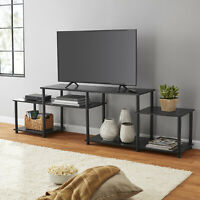 Black Oak TV Stand Entertainment Center For TVs Up To 52 Set W/ Plastic Stopper