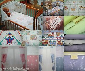 JUNIOR BABY TODDLER COT DUVET COVER BEDDING OR CURTAINS BLANKETS WARM SHEETS