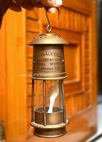 "Antique Miners Lamp Vintage Brass Nautical Ship Lantern Oil Lamp 7"" Home Decor"