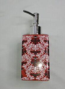 """Soap Dispenser Red Black White Gothic Bathroom Kitchen Decor Hand Soap 7"""""""