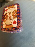 Vintage King of Hearts playing card Cloisonne enamel  Jewelry Trinket box