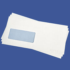 500 X DL Window Envelopes Self Seal Banker Opaque Pack Office 110mm x 220mm