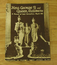 King George VI Queen Elizabeth Coronation May 12 1937 Weldon's Magazine