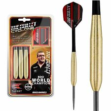 20g Target Stephen 'The Bullet' Bunting Cyclone Brass Darts Set, Flights, Stems