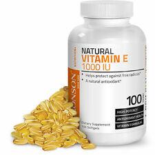 Bronson Natural Vitamin E 1000 IU, Powerful Antioxidant Support 100 Softgels