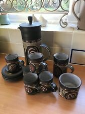 More details for vintage briglin studio pottery coffee set