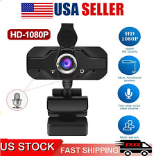 1080P Full HD USB Webcam for PC Desktop & Laptop with Microphone /privacy cover