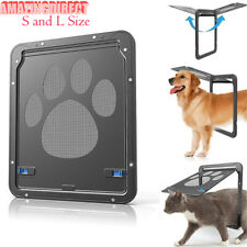 Dog Puppy Safe Screen Door Footprint Pattern Cat Window Doggie Flap Pet Supplies