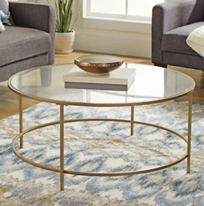 Better Homes & Gardens Nola Coffee Table, Gold Finish