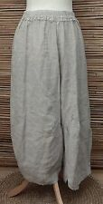 LAGENLOOK OVERSIZE AMAZING LINEN BALLOON HAREM TROUSERS/PANTS*LIGHT BEIGE*XL-XXL