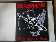 BLASPHEMY,FALLEN ANGEL OF DOOM SEW ON EMBROIDERED LARGE BACK PATCH