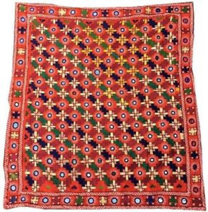 2x3 ft  Antique Hand Embroidered Suzani Suzni, Turkish Tablecloth,Wall Hanging,