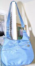 TRAVELOG Blue/Teal Anti Theft RFID Cross body Travel Shoulder Bag Drape Pocket