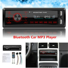 Single 1DIN Car Stereo In Dash Bluetooth MP3 Player AUX USB FM Radio Receiver