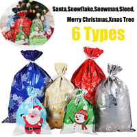 30pcs Christmas Gift Bags Cute Drawstring Assorted Styles Candy Bags