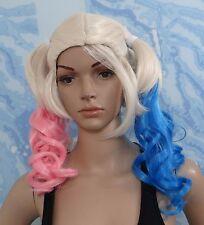 Probeauty Fancy Dress Curly Wavy Costume Wig Lolita Wigs, Blue/Pink