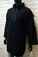 Cappotto Uomo Montgomery MARINA YACHTING 54 Giacca Blu Lana Jacket Vintage