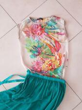 t-shirt maglia Rinascimento blusa XS multicolore met elisabetta franchi camicia