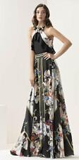 Abito Maestri stampato a fiori elegante moda taglia 46 Elegant dress Kleid Robe