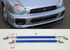 "Blue 4"" Adjustable Rod Support for Chevy Bumper Lip Diffuser Spoiler splitters"