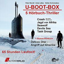 XXL Hörbuch Paket U-BOOT-BOX | 6 Thriller Hörbücher | 65 Stunden | mp3-DVD