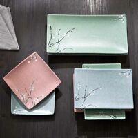30cm Chinesisch Keramik Essteller Flach Ebro Speiseteller Geschirr Sushi Teller