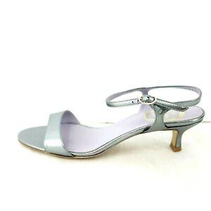 MIa Letizia Elegant Women's Shoes Court Sandals Leather Metallic Np 199 New