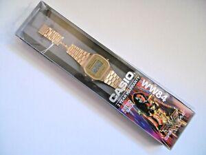 RARE GOLD PLATED CASIO WW84 WONDER WOMAN DIGITAL WATCH A168WG-9EF-WW84
