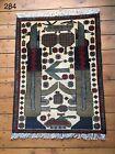 •284• Beautifully Handmade  Genuine Afghan War Rug, 79x59 cm