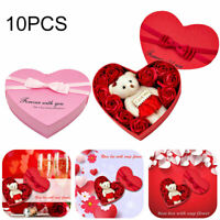 Artificial Soap Flower Fake Rose Box Bouquet Decor Party Birthday Wedding Gift