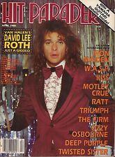 Hit Parader April 1985 David Lee Roth, Iron Maiden 050317nonDBE