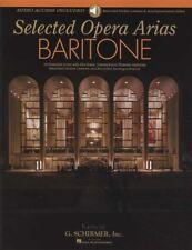 Selected Opera Arias Baritone Sheet Music Book & Audio Lesson Access