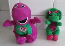 "10"" SINGING MUSICAL BARNEY SOFT TOY & 8"" BABY BOP PLUSH SOFT TOYS"