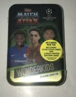 2019-20 UEFA Champions League Soccer Topps Match Attax 60 Cards w WONDERKIDS Tin