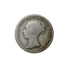 Great Britain 1840 Queen Victoria Silver Threepence Coin 3p KM#730